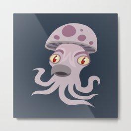 Spore Squid Metal Print