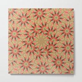 Beautiful day lily kaleidoscope Metal Print