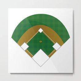 Baseball Illustration Metal Print