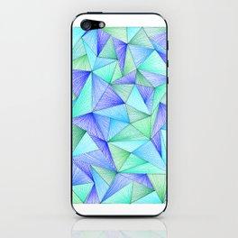 Minty Triangles iPhone Skin