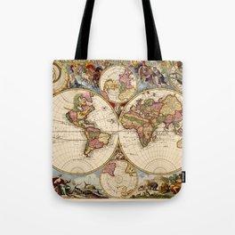 Vintage Celestial Map 1705 Tote Bag