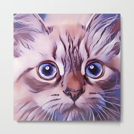 Birman The Blue Eyed Cat Metal Print