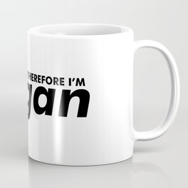 I Care Therefore I'm Vegan Coffee Mug