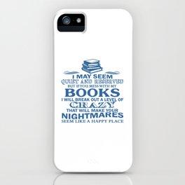 BOOKS CRAZY iPhone Case