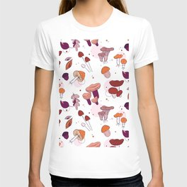 Mushrooms leaves T-shirt