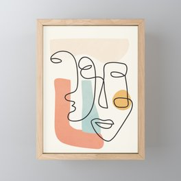 Abstract Faces 31 Framed Mini Art Print