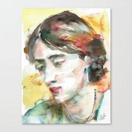 VIRGINIA WOOLF - watercolor portrait.3 Canvas Print