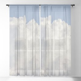 Puffy Clouds Skyscape | Heavenly Sky Sheer Curtain