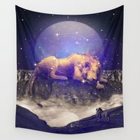 leo Wall Tapestries featuring Under the Stars III (Leo) by soaring anchor designs