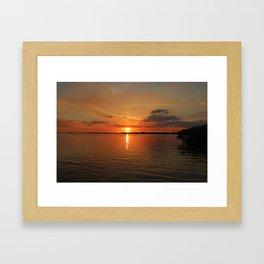 The River Afire Framed Art Print