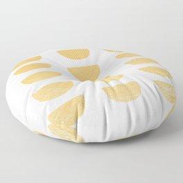 Lena Gold Half Moon Abstract Floor Pillow