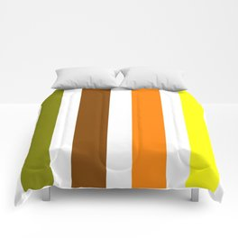 Beginning of Spring Stripes - Abstract - Yellow Green Orange Comforters