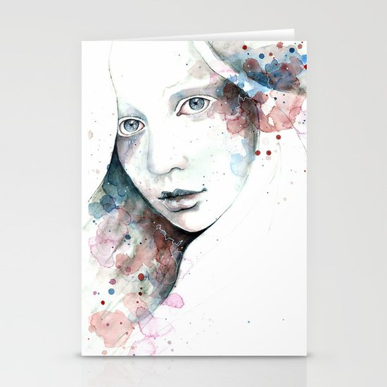 Unfinished Sympathy, watercolor & pencil study Stationery Cards