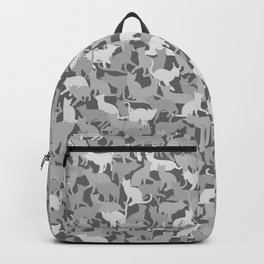 Cat Camo Grey Camouflage Backpack