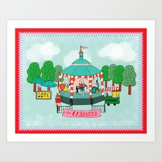 The Carousel Art Print