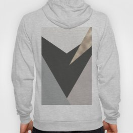 Abstract geometrical faux gold black gray triangles pattern Hoody