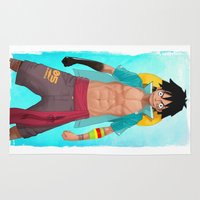 luffy Area & Throw Rugs featuring Luffy by Yvan Quinet