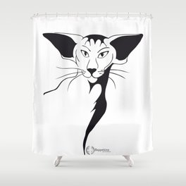 Mean look with a gentle heart Shower Curtain
