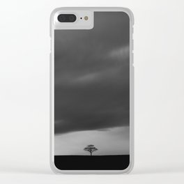 Alone on the Ridge Clear iPhone Case