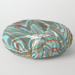 Psychedelic Ripple Floor Pillow
