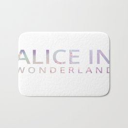 Alice in Wonderland Flowers Bath Mat