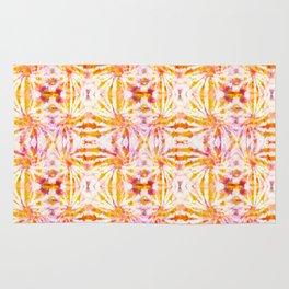 Summer Vibes Tie Dye in Sunrise Orange Rug