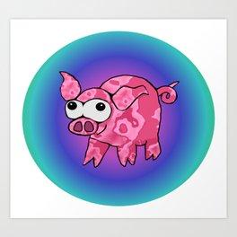 Little crazy pig Art Print