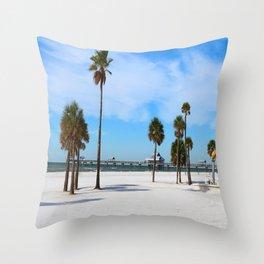 A Florida Winterday Throw Pillow