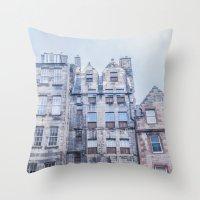 edinburgh Throw Pillows featuring EDINBURGH by Marte Stromme