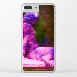 The Goddess of Glitch Clear iPhone Case