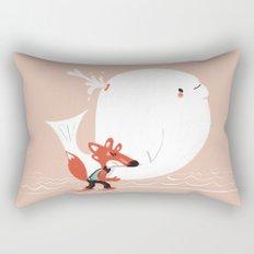 Fox and Whale Rectangular Pillow