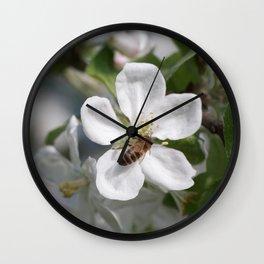 Bee on Mau ApleTree Wall Clock