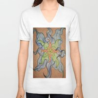 orchid V-neck T-shirts featuring Orchid by Vincent Murphy