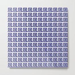 Antic pattern 19- roman or greek pattern - blue Metal Print