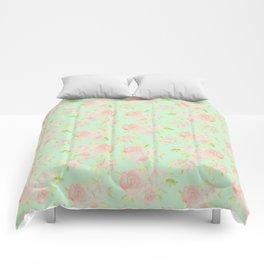 Bouquet of Watercolor Roses Comforters