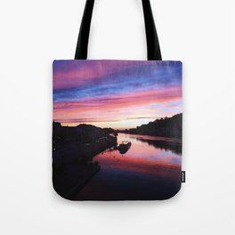 European Pink Sunset Tote Bag