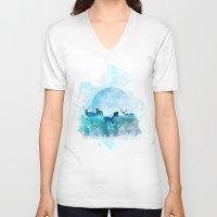 twilight V-neck T-shirts featuring Twilight by Lynette Sherrard Illustration and Design