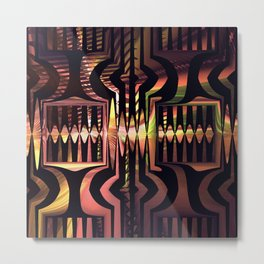 Groovy pattern abstract Metal Print