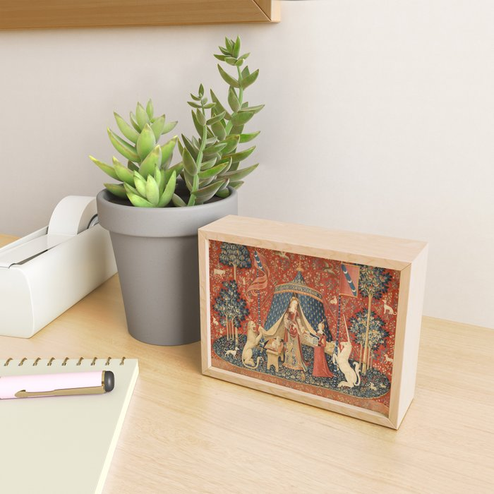 The Lady And The Unicorn Framed Mini Art Print