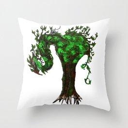 Tree Dragons Throw Pillow