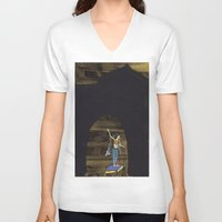 princess V-neck T-shirts featuring Princess  by Dawn Patel Art