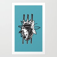 3 of Wands Tarot Card Art Print