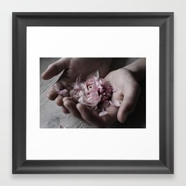 The wild flowers grows here Framed Art Print