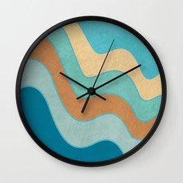 Cascade - Minimal Blue Abstract Wall Clock