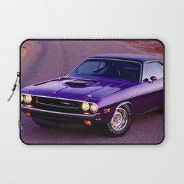 1970 Plum Crazy Purple 426 Hemi Challenger RT Laptop Sleeve