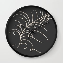 loopy feather Wall Clock