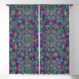 Bohemian Hippie Festival Psychedelic Design Blackout Curtain