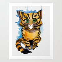 kitten Art Prints featuring Kitten by SilviaGancheva