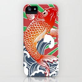 fishing flag iPhone Case