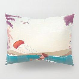 Kite surfer Woman Theme Pillow Sham